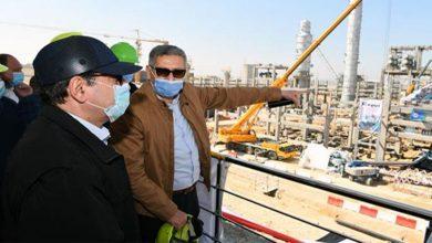 وزير البترول يتفقد تنفيذ أعمال مشروع توسعات مصفاة ميدور بالأسكندرية