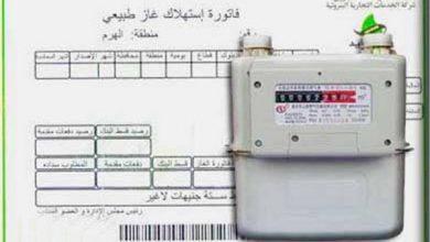 تسجيل القراءة الشهرية لاستهلاك الغاز