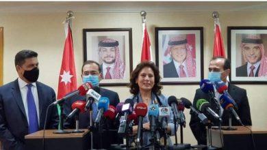 المؤتمر الصحفي لوزراء بترول مصر وسوريا والأردن ولبنان