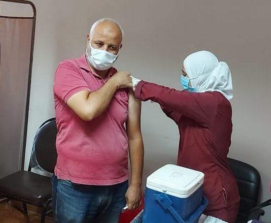 تطعيم العاملين بمنطقة الإسماعيلية