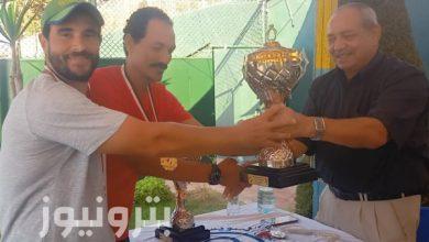 فريق الإسكندرية للبترول يحصل على كأس بطولة التنس الأرضي