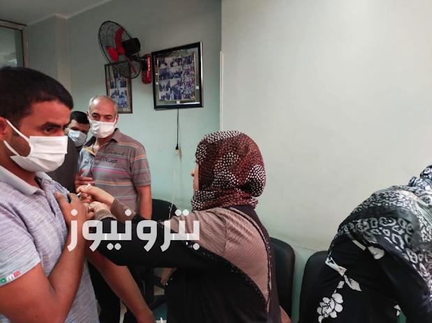 تطعيم العاملين بالدقهلية بلقاح فيروس كورنا