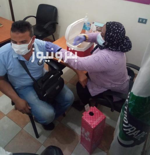 تطعيم العاملين في منطقة الاقصر بلقاح فيروس كورونا
