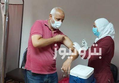 تطعيم العاملين في مناطق الإسماعيلية بلقاح فيروس كورونا