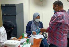 تطعيم العاملين بمنطقة العاشر من رمضان لقاح فيروس كورونا