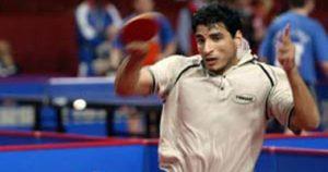 سيد لاشين لاعب تنس الطاولة بشركة صان مصر