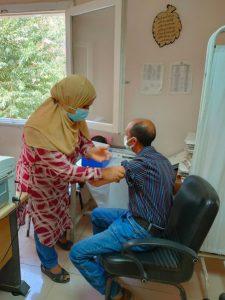 تطعيم العاملين بمنطقتي المعادي و دار السلام
